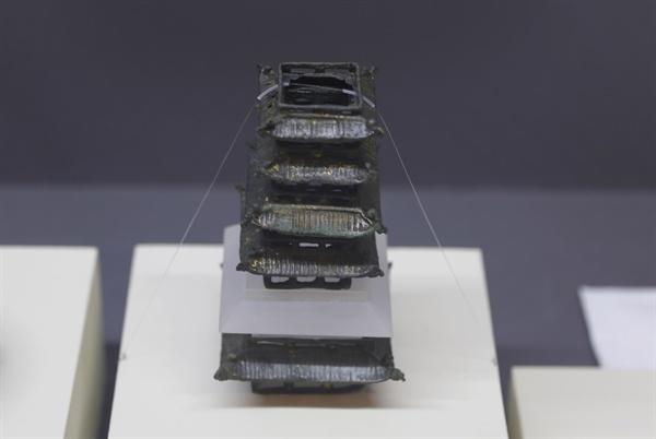 장흥은 통일신라 때부터 불교문화를 꽃피웠다. 장흥 탑산사지에서 출토된 높이 18.5㎝의 고려 때 청동소탑이다.