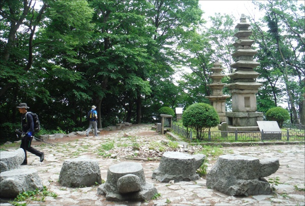 상원스님과 호랑이의 이야기가 전해지는 남매탑, 공주 청량사지 오층석탑(보물 제1284호)과 칠층석탑(보물 제1285호).