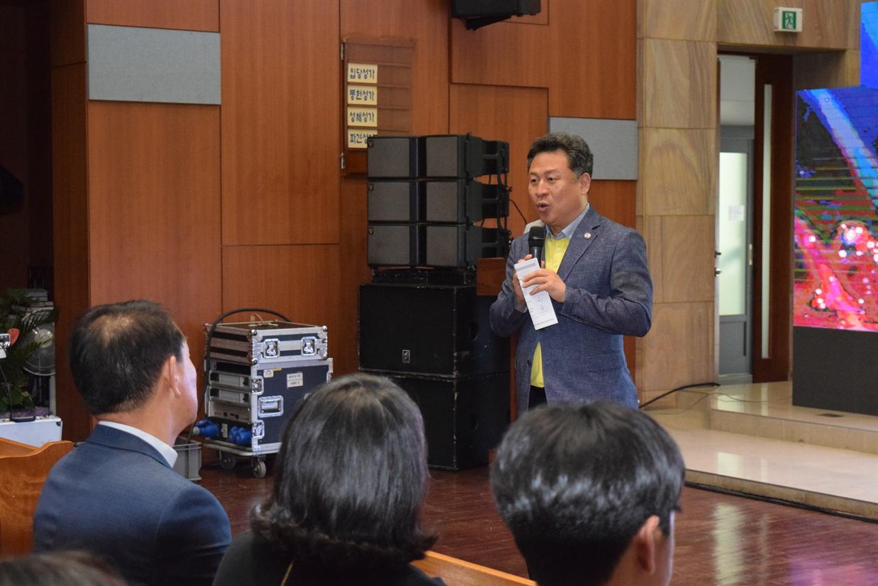 이날 행사에는 안승남 구리시장(사진), 김성수 전 대한성공회 주교, 유진룡 전 문체부 장관과 이주민과 남양주시민 등 200여명이 함께 했다.