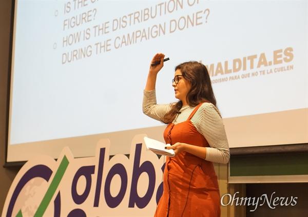 스페인의 팩트체크 비영리기구인 '말디타'(Maldita.es)의 공동 설립자 클라라 지메네즈 크루즈.