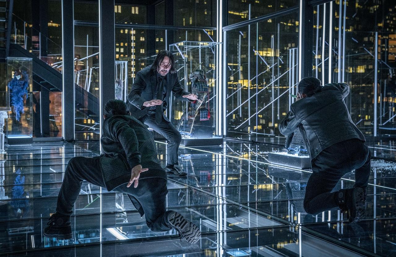 영화 <존 윅 3: 파라벨룸> 장면