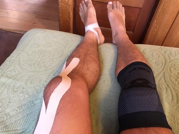 주인 잘 못 만나 고생 많이 한 내 다리.
