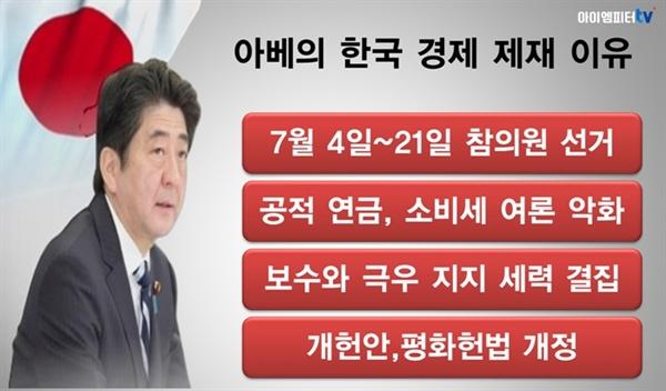 아베가 한국에 '경제제재'를 하게 된 배경은 이렇다.