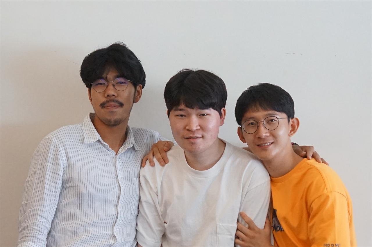 이스케이프 팀(김선우 대표, 백지환, 김선일)