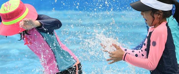 7월 13일 거창 창포원 물놀이장.