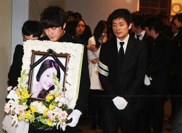 2009년 3월 9일, 고 장자연씨 장례식.