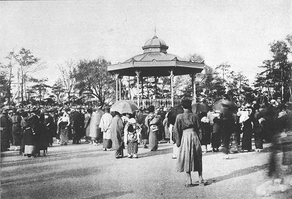 히비야공원 소음악당 준공 당시(1919년)