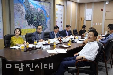 당진시가족문화센터 설계용역 중간 보고회가 지난 9일 당진시청 접견실에서 개최됐다