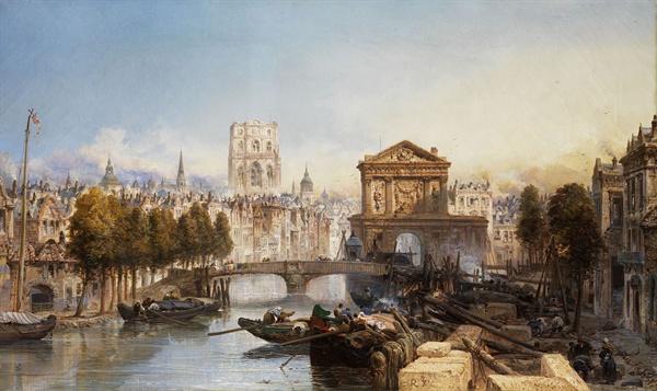 1895년 화가 제임스 베두테가 그린 로테르담