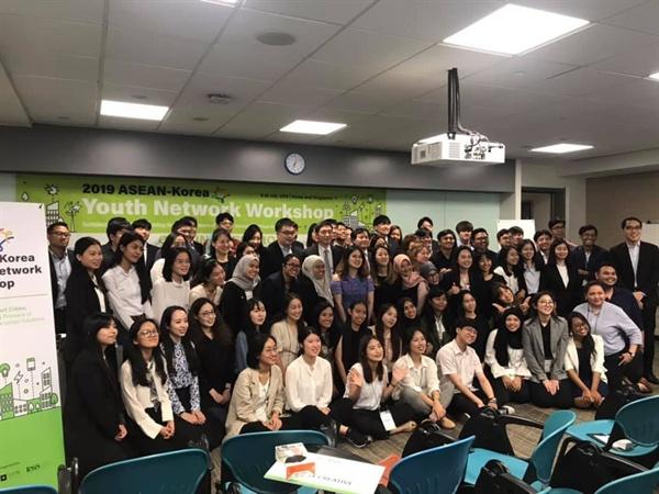 2019 ASEAN-Korea Youth Network Workshop에 참가중인 아세안, 한중일 청년들
