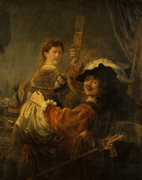 사스키아와 함께 있는 자화상/술집에 있는 탕자, 1635  독일, 알테 마이스터 미술관