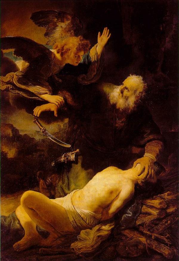 이삭을 제물로 바치려는 아브라함을 제지하는 천사, 1635년경   러시아 에르미타주 미술관