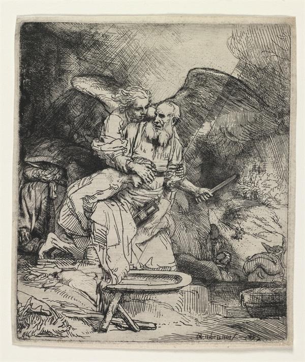 이삭의 희생, 에칭, 1655  워싱턴 국립미술관
