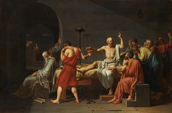 자크 루이 다비드, 소크라테스의 죽음, 1787년  메트로폴리탄 미술관