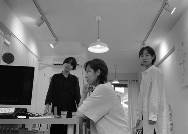 에루어 편집팀. (왼쪽부터) 손아용, 이빈소연, 정연지