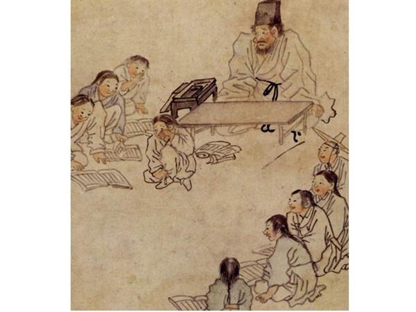 김홍도 서당 둥글게 앉은 서당 아이들