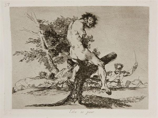 이건 더 나쁘다, 전쟁의 참화, 1812-15년  프라도 미술관
