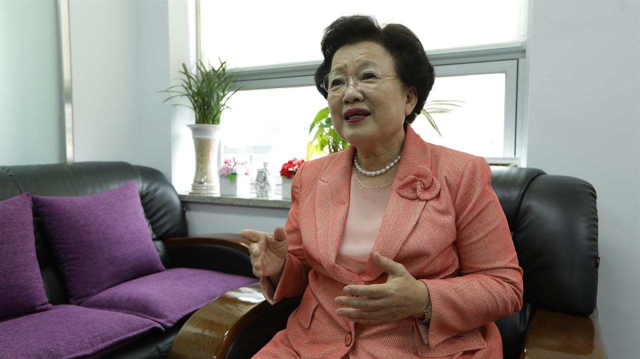 이배용  한국의서원통합보존관리단 이사장 19일 '한국의 서원 ' 세계유산 등재와 관련 인터뷰를 하고 있다.