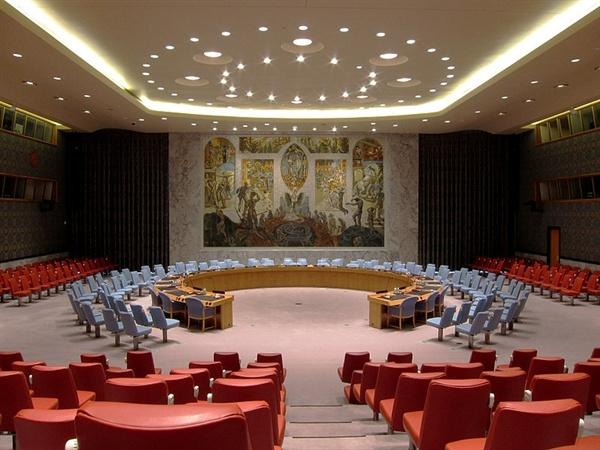유엔 안보리 회의장.