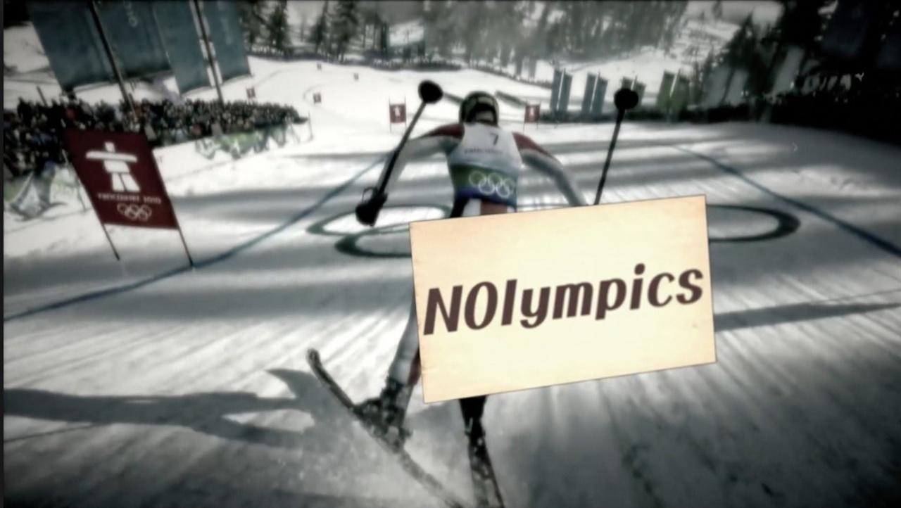 <인터뷰 프로젝트 - 놀림픽(NOlympics)> 포스터.