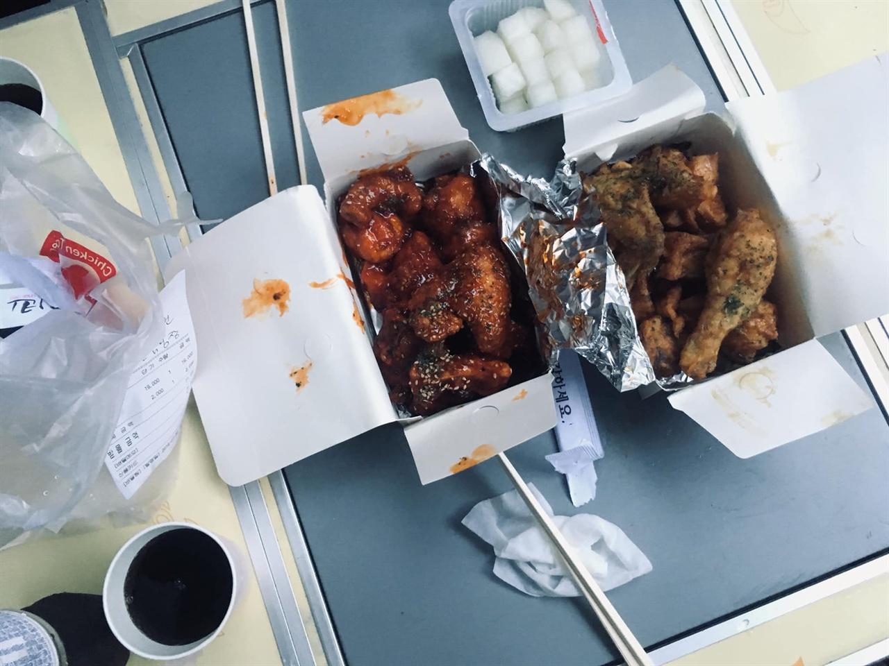 치킨 달천공원 캠핑장에는 치킨이 배달된다