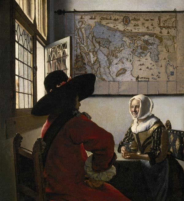 사관과 웃고 있는 소녀 <출처: 위키피디아>