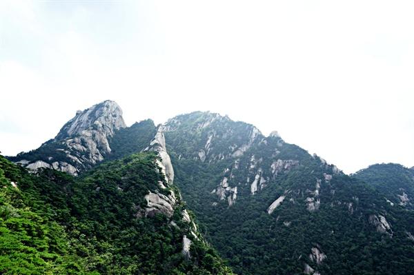 북한산 숨은벽 전망대에서 바라본 풍경
