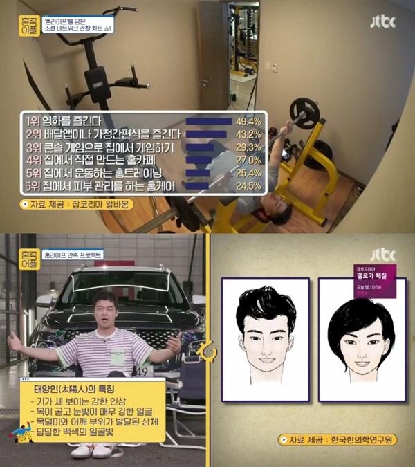 JTBC < 혼족어플 >의 한 장면