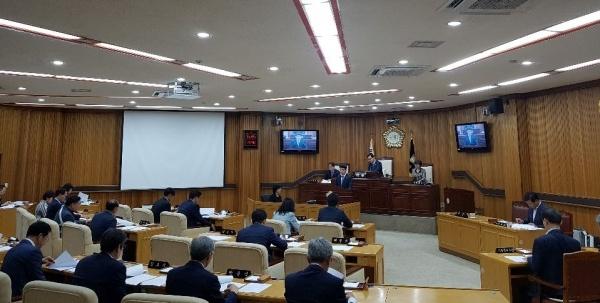 전남 목포시의회 본회의장 모습 전남 목포시의회 모습