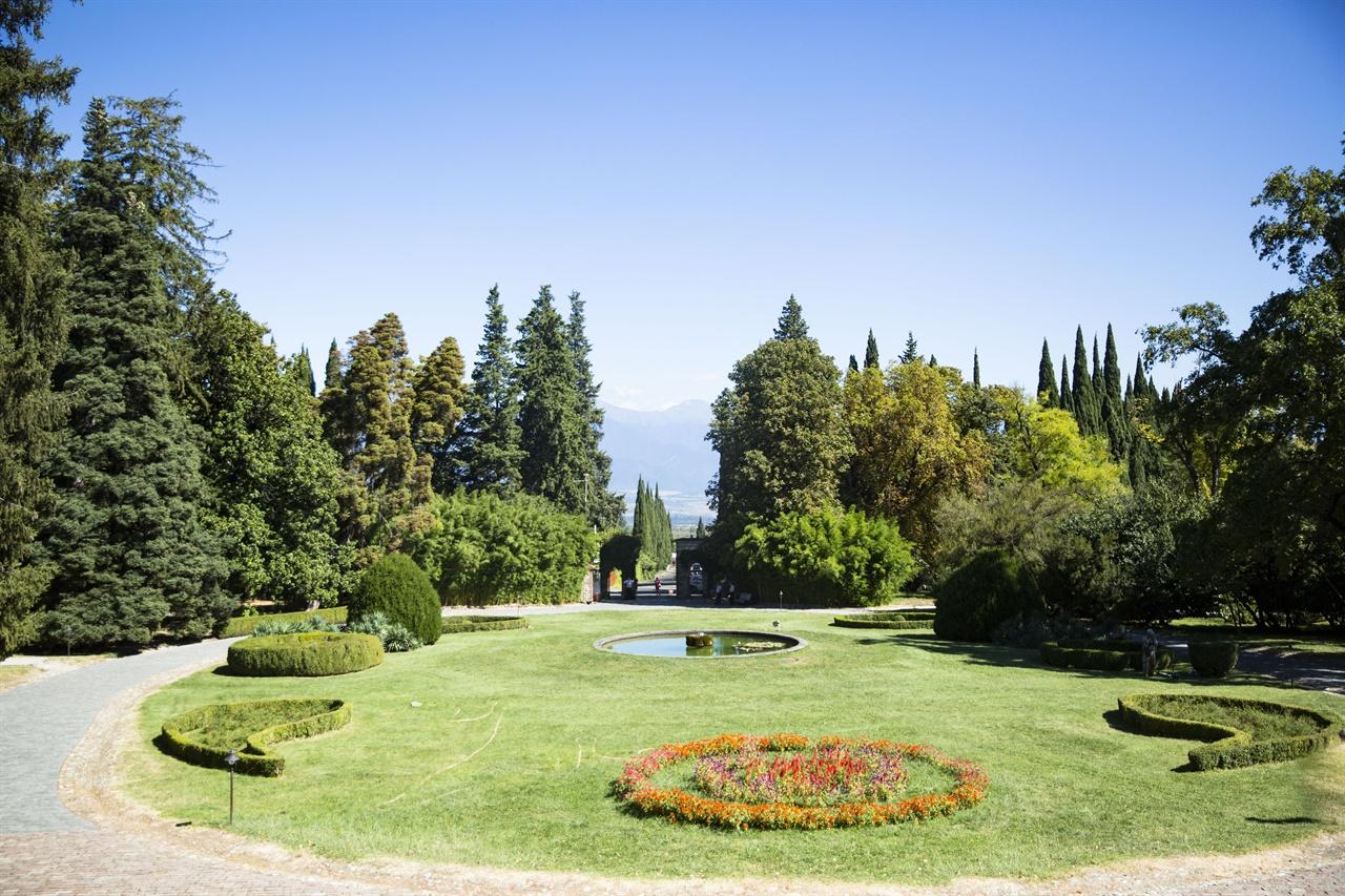 알렉산드르 차프차바제 와이너리(박물관)전경  조지아 와인 역사에 한 획은 그은 알렉산드르 차프차바제 와이너리 (박물관, 대저택)은 카헤티 귀족들의 생활상과 와이너리를 함께 엿볼 수 있다. 아름다운 저택과 정원이 압도적이다. 찌난달리를 처음 출시한 곳으로 지하의 와인바에서 시음할 수 있다.