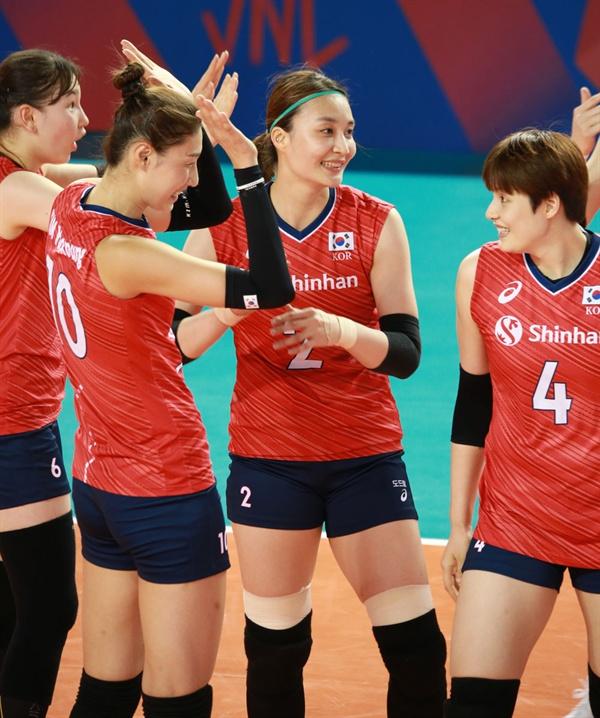한국 여자배구 대표팀 선수들
