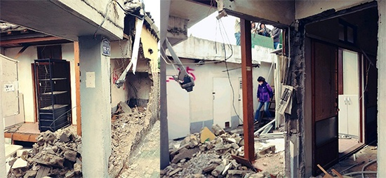 부서진 상태의 이육사 대구 남산동 집(2018년 10월 13일 당시의 상태로, 2019년 8월 12일 현재는 완전 철거 상태임)