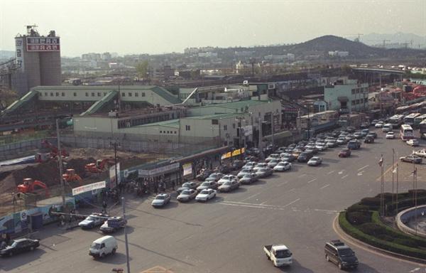 2000년 수원역 민자역사 건립 전 수원역 모습