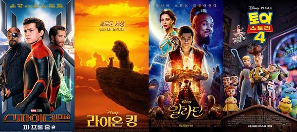 7월 한국영화 시장을 장악을 할리우드 영화들