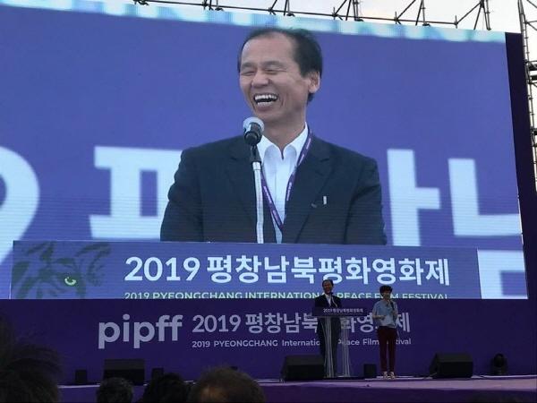 """최문순 강원도지사 """"내년에는 원산에서 영화제를 하기를 기대한다"""""""""""