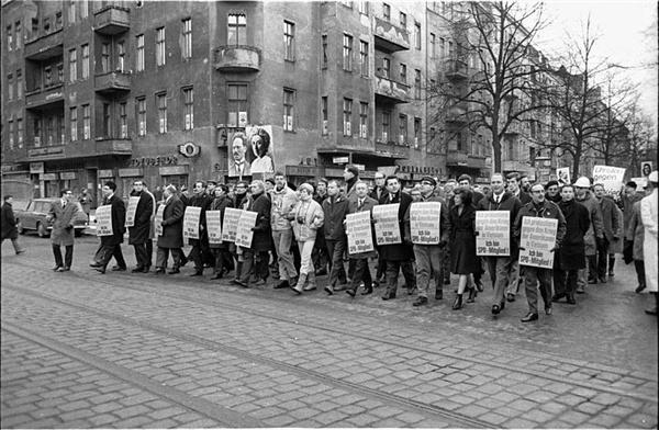 68운동의 한 장면. 사진은 독일의 68운동.