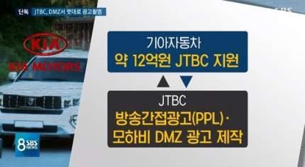"""16일 SBS 8뉴스는 """"JTBC가 군 허락 없이 최고의 군사 보안 시설을 배경 삼아 상업용 광고를 만들었다""""고 보도했다."""