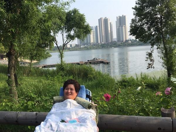 광교 호수공원에서