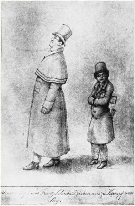 미하일 포글과 슈베르트(모리츠 폰 슈빈트,1825)
