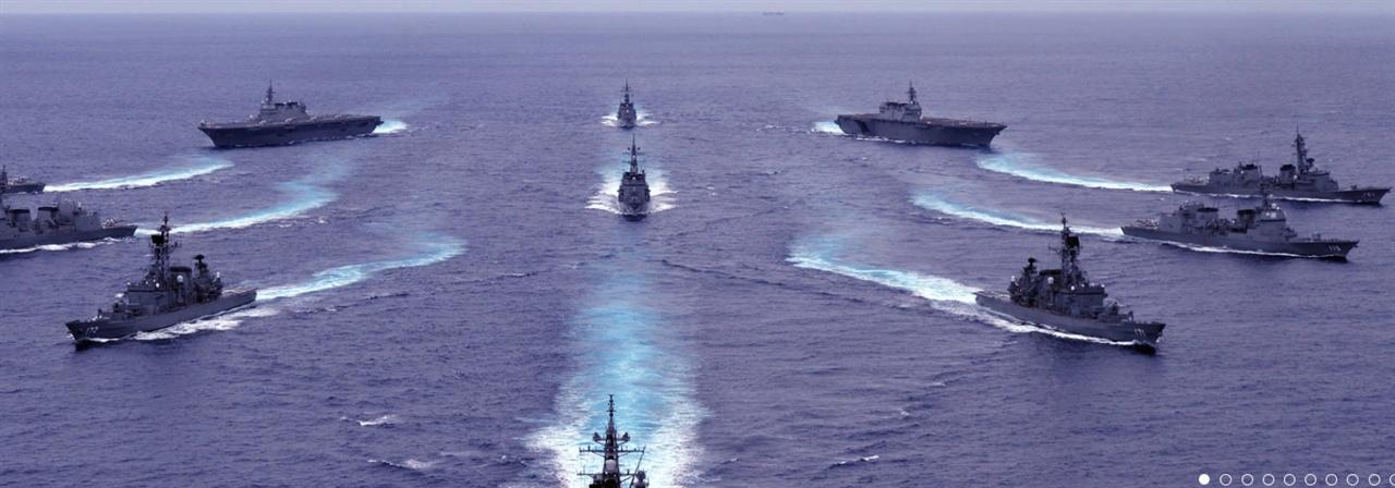 훈련 중인 일본 해상자위대.