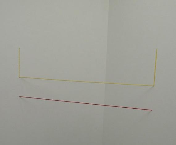 프레드 샌드백 I '무제(조각연구, Two-part Cornered Construction)' 아크릴 황실, 적실 1982-2006
