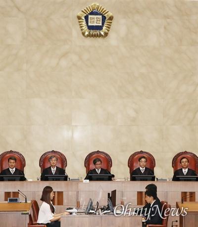 29일 오후 서울 서초구 대법원에서 박근혜 전 대통령의 '비선 실세' 최순실, 이재용 삼성전자 부회장이 연루된 '국정농단' 사건 상고심이 열리고 있다.