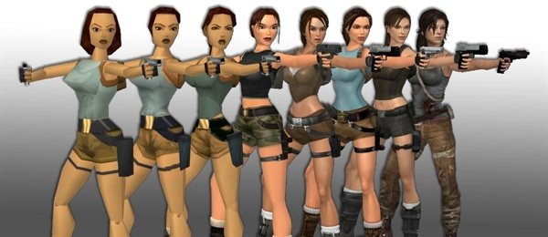 라라 크로프트의 진화. (사진: http://www.gamesgrabr.com)