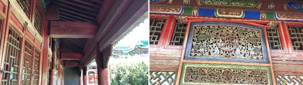 몽골 절에는 원래 우리나라와 비슷하게 화려한 단청이 입혀져 있었습니다. 지금은 흔적만 남았습니다.