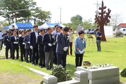 심훈 선생 추모제가 지난달 30일 필경사 일원에서 진행됐다.