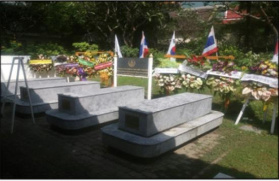 방콕 중심가에 위치한 참전용사묘에는 한국전쟁에 참전한 이슬람계 태국장병의 유해(3기)가 모셔져 있다.