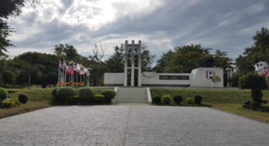 태국 방콕의 동부 촌부리에 세워진 한국전쟁 참전기념비.