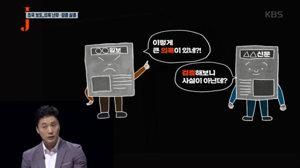 지난 1일 방송된 KBS1 <저널리즘 토크쇼J> 한 장면