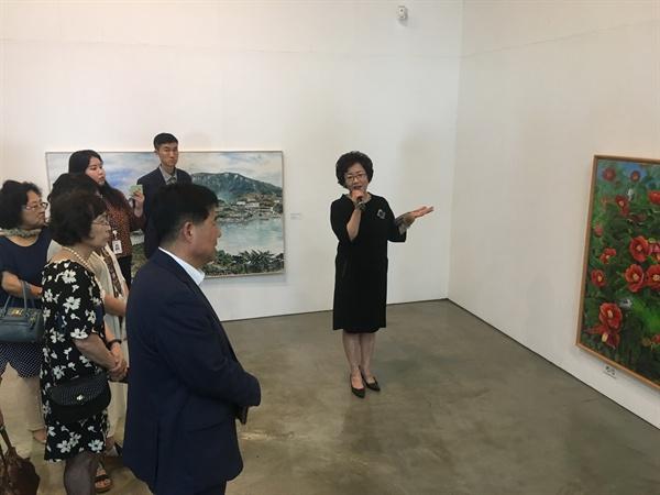 창원시립 마산문신미술관의 초대작가전.