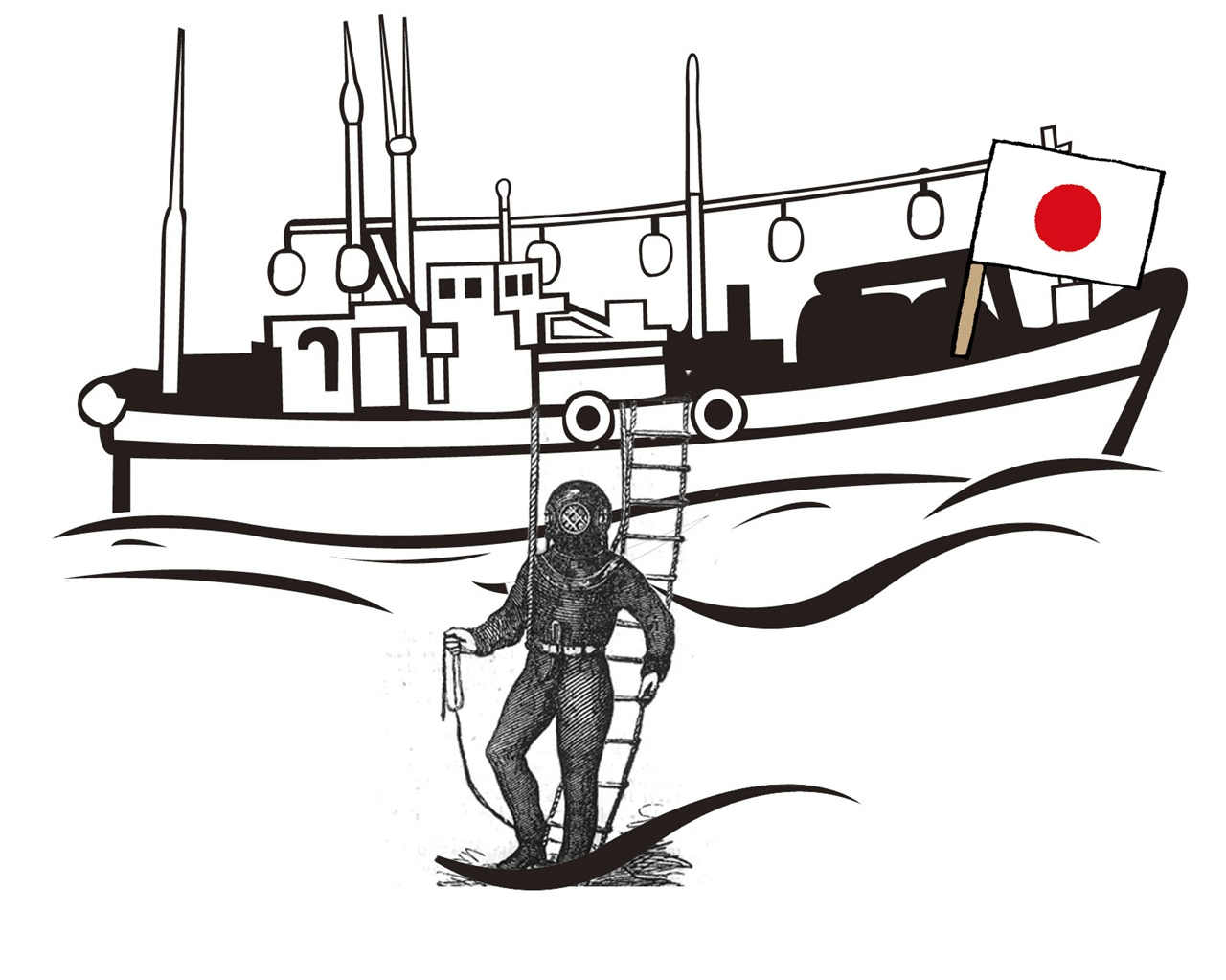 일본 잠수기 어업자 1879년부터 시작된 일본의 바다 침략